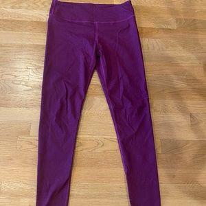 Purple fabletics leggings medium